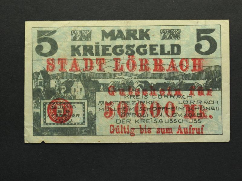 Lörrach Deutschland 5 Mark Gültig Bis Februar 1919 24145