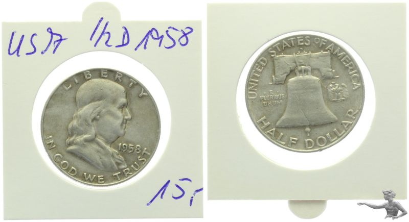 USA 1/2 Dollar 1958 Franklin