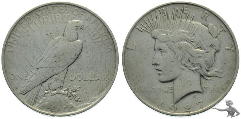 1927 D USA 1 Dollar Peace