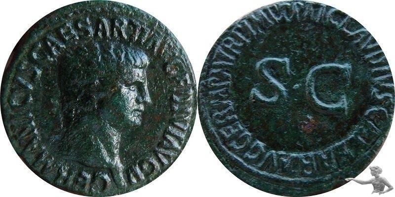 AE-AS Germanicus posthum.Unter Claudius.I.
