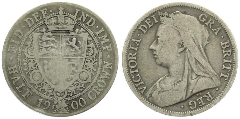Grossbritannien 1/2 Crown 1900 Victoria