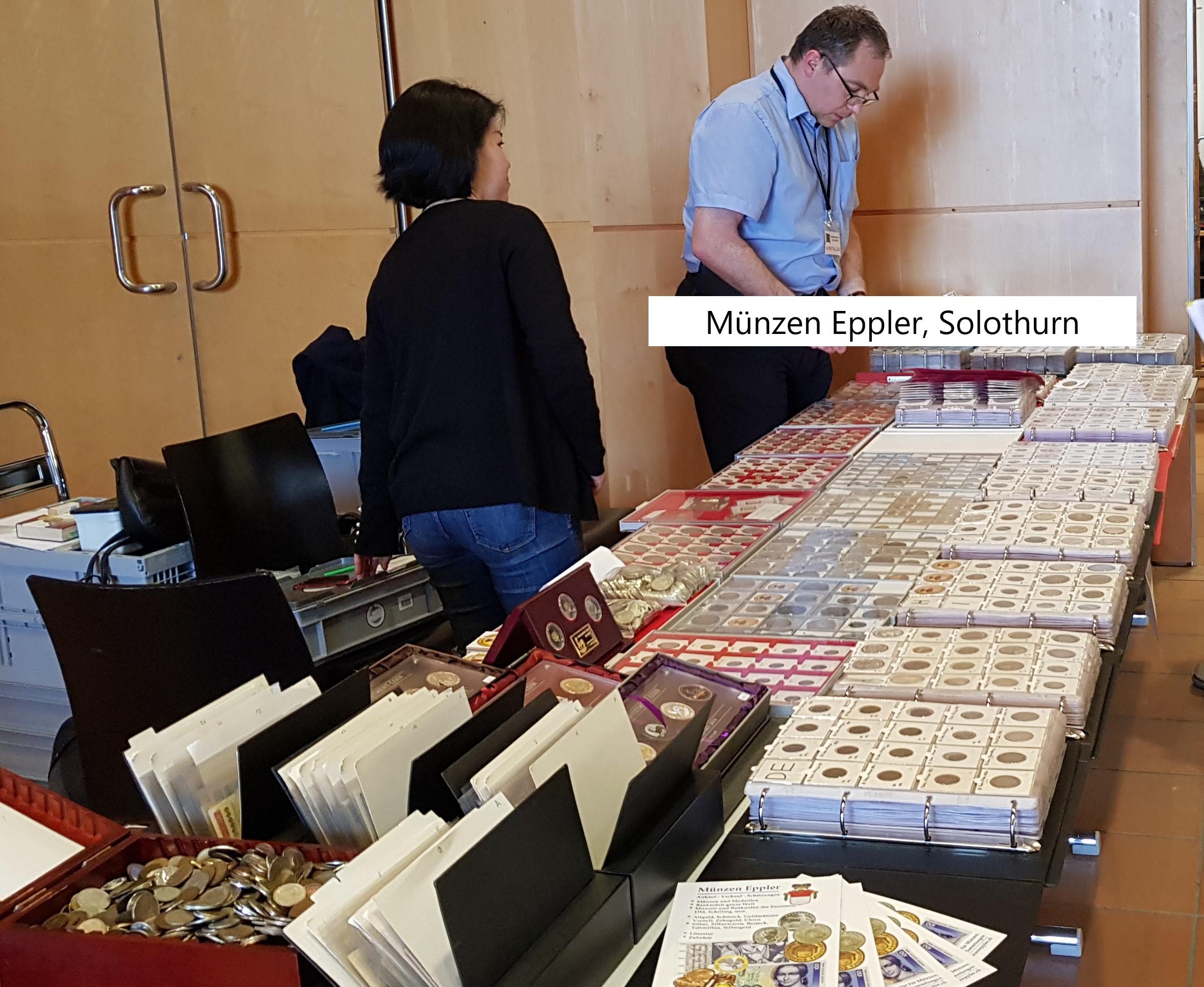 Münzenmesse Schönbühl numisauktion.ch münzen eppler