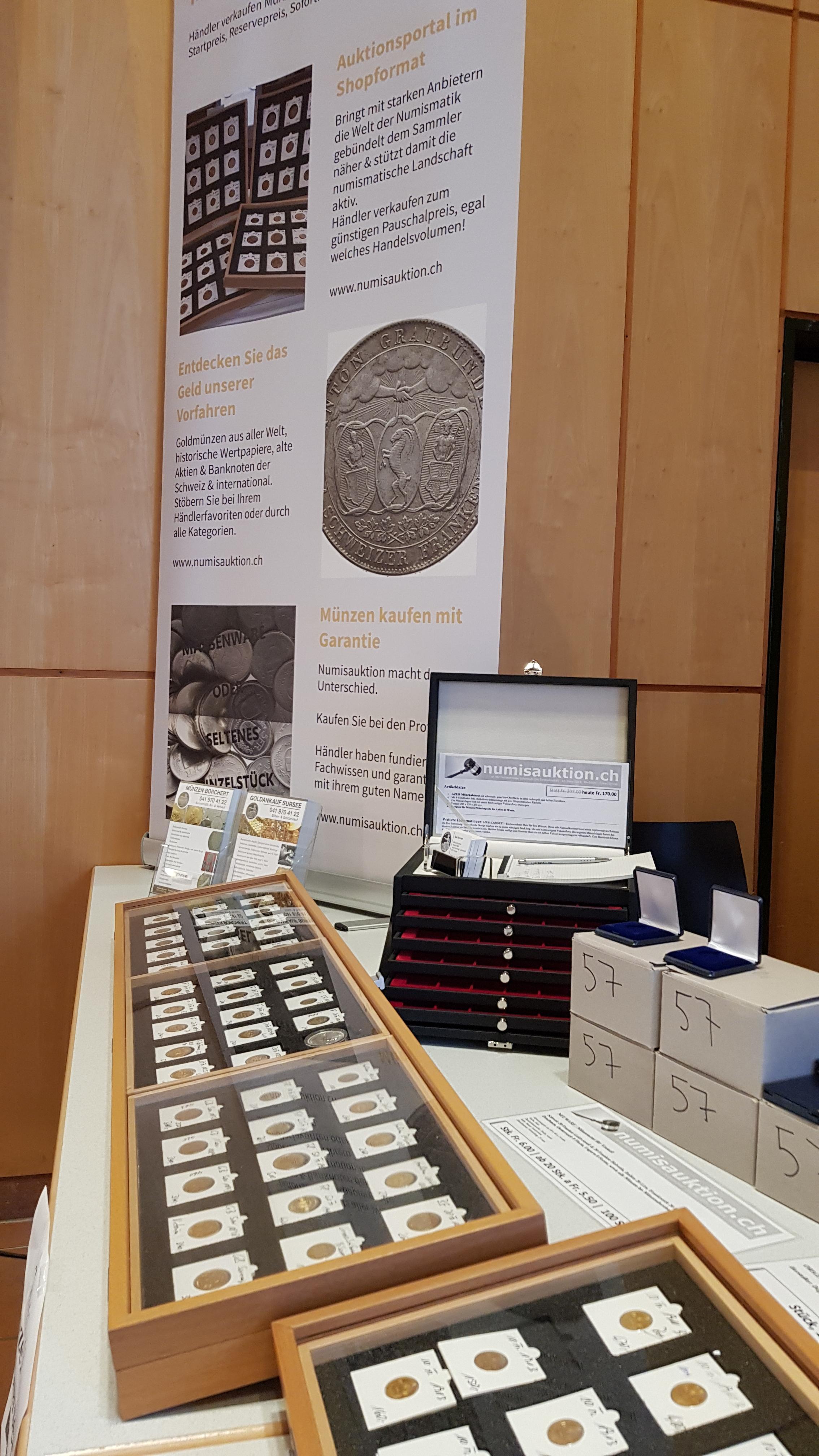 Münzenmesse Schönbühl numisauktion.ch